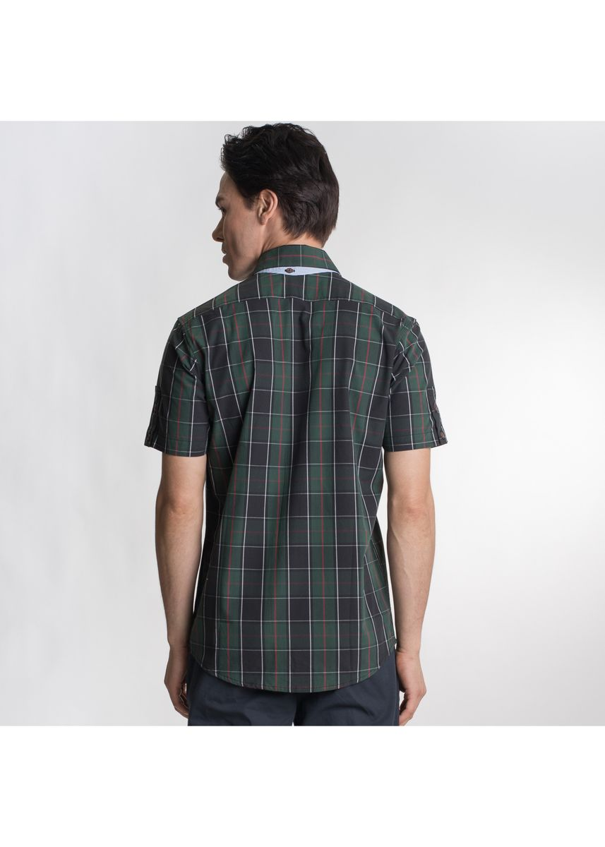 Multi color Formal Shirts . Août Singapore - Men's Short Sleeved Checkered Shirt -
