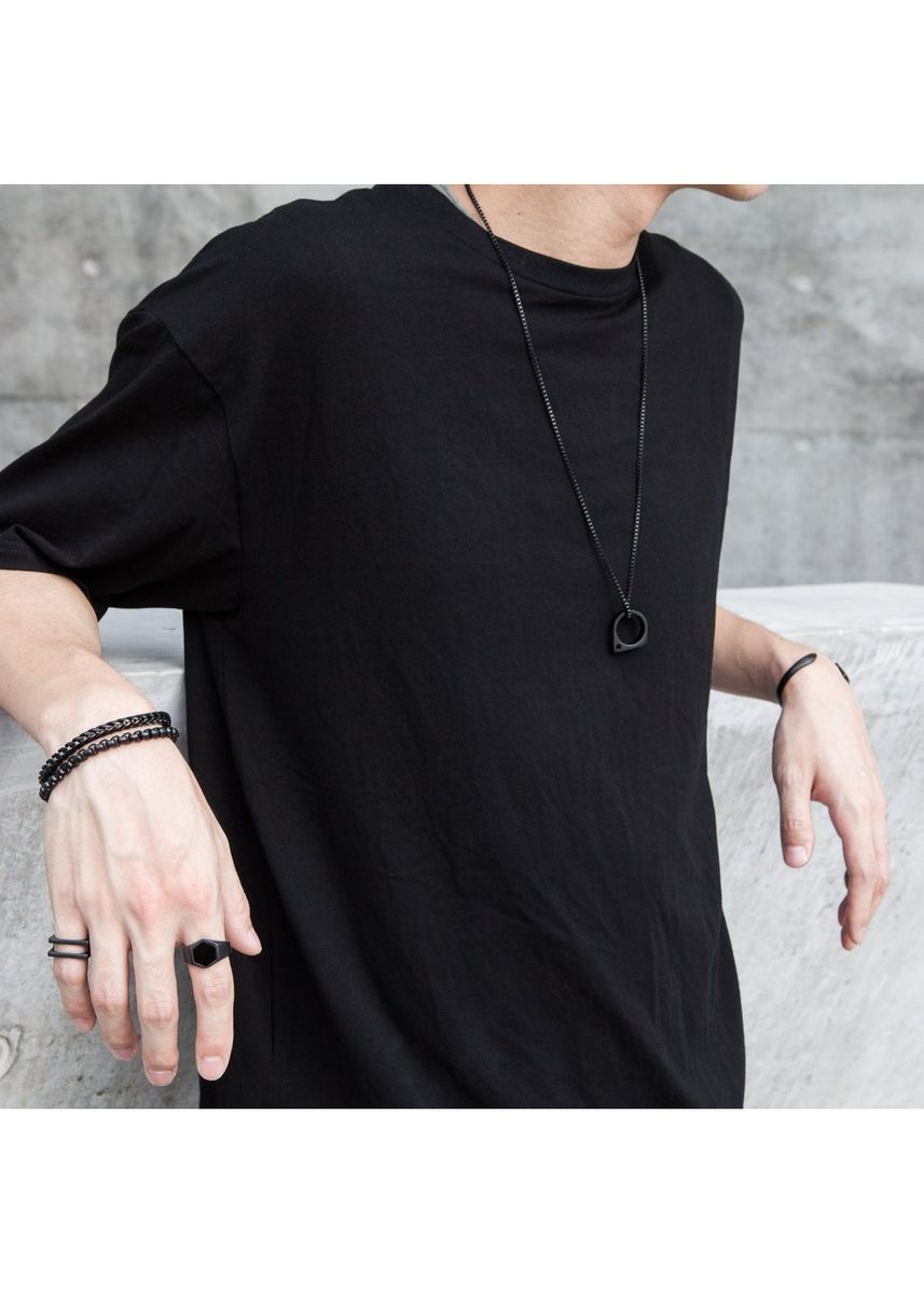 "Black color Necklaces . Vitaly Sua Chain Ring - 30"" -"