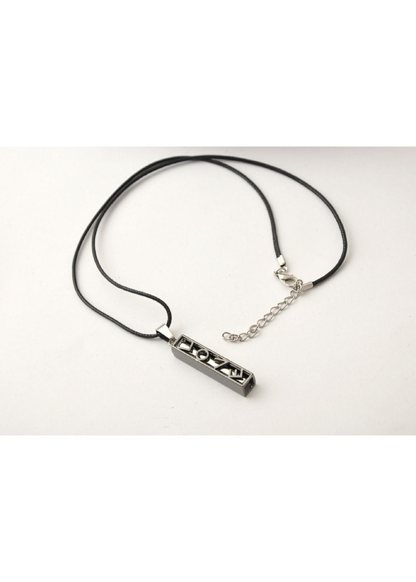 Silver color Necklaces . Korean Style Unisex Trendy Matching Wolf Pendant + Waxed Necklace -