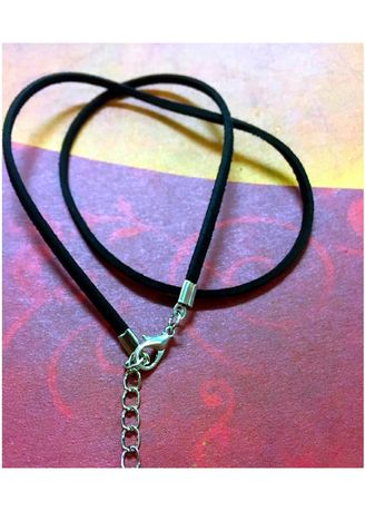 Brown color Necklaces . Korean Anti-Allergy Velvet Leather Rope Necklace -