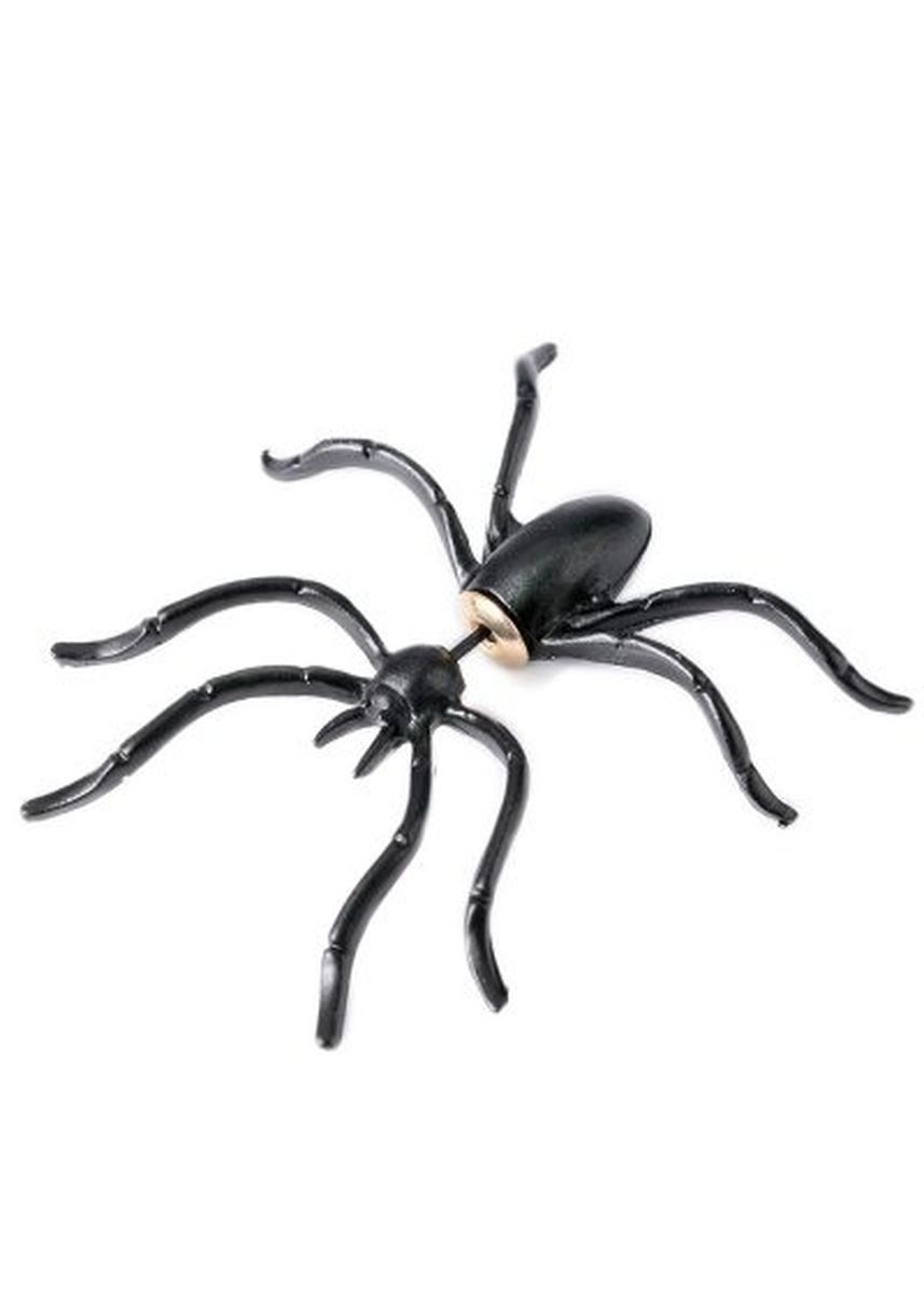 Black color  . ONE PIECE Charateristic Spider Shape Earrings For Women -