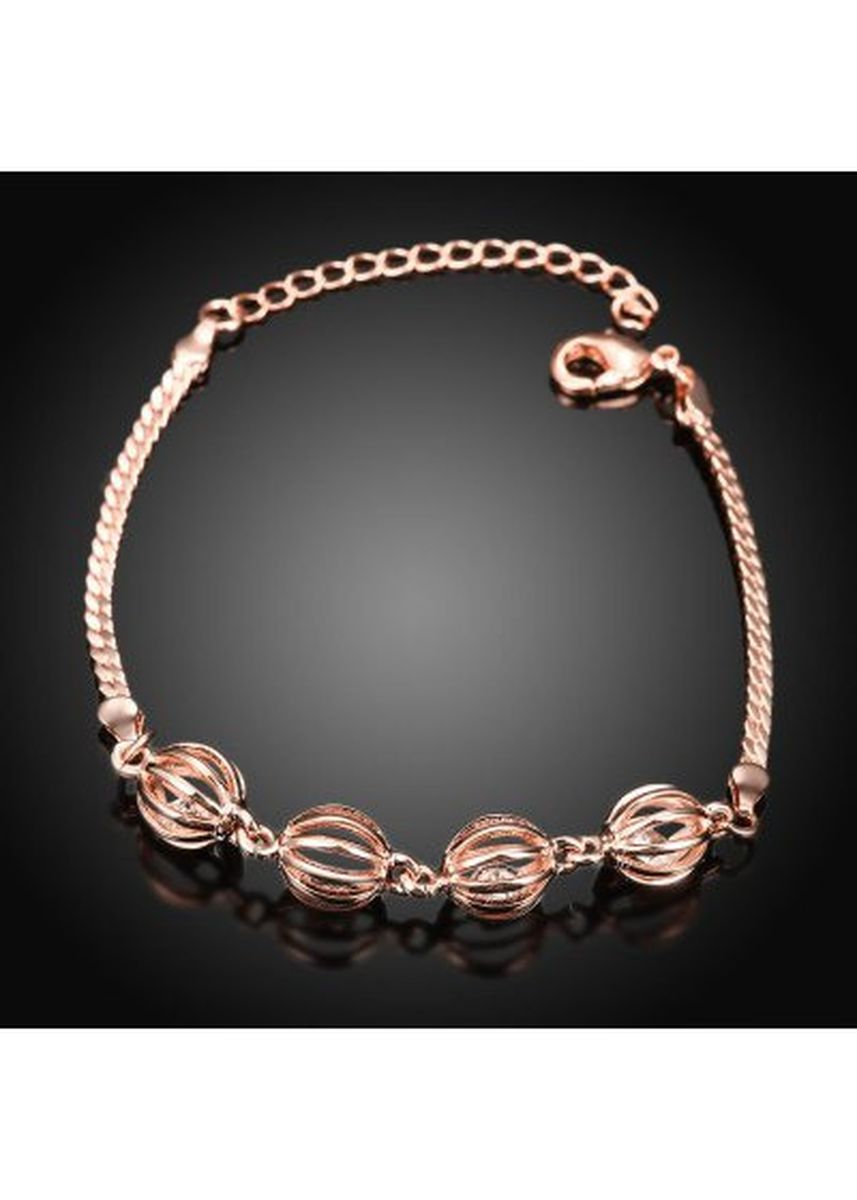 ทอง color  . B018-B Graceful Inlaid White Zircon Different Types New Gift Bracelet -