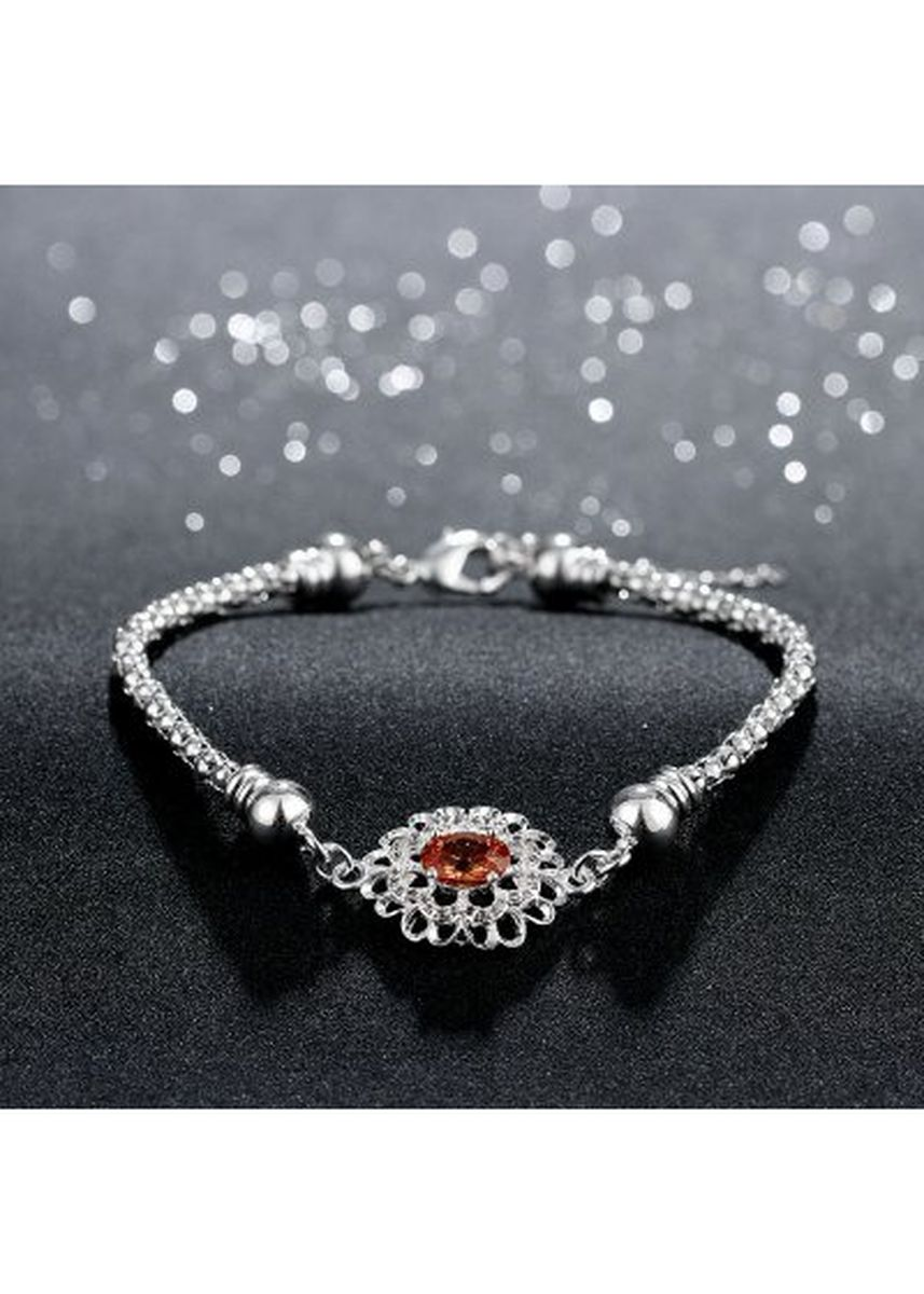 เงิน color  . Wholesale Couples Silver Heart Shape Chain Design Bracelet H367 -