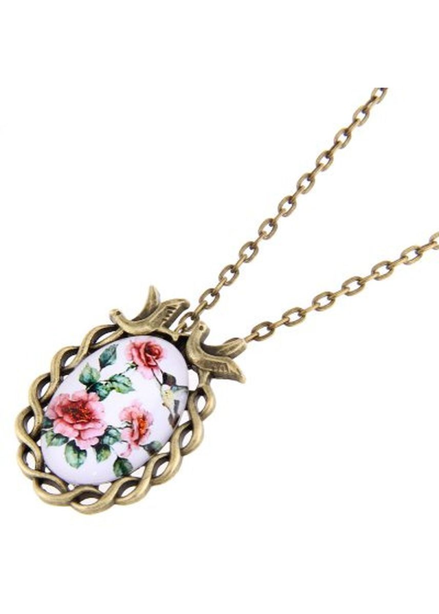 Gold color  . Charming Birds Artificial Gem Necklaces for Ladies -