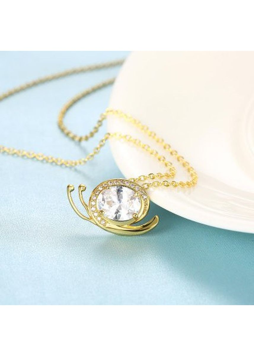 Gold color  . N134 - A Zircon Necklace Fashion Jewelry 24K Gold Plating Necklace -