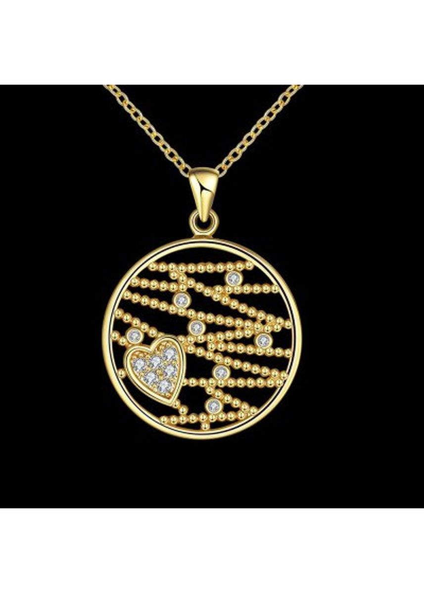 Gold color  . N114 - A Zircon Necklace Fashion Jewelry 24K Gold Plating Necklace -