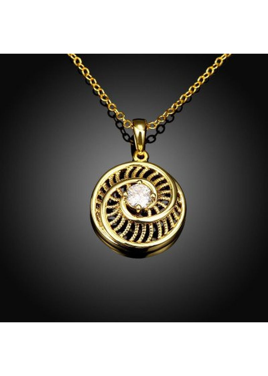 Gold color  . N125-A Zircon Necklace Fashion Jewelry 24K Gold Plating Necklace -