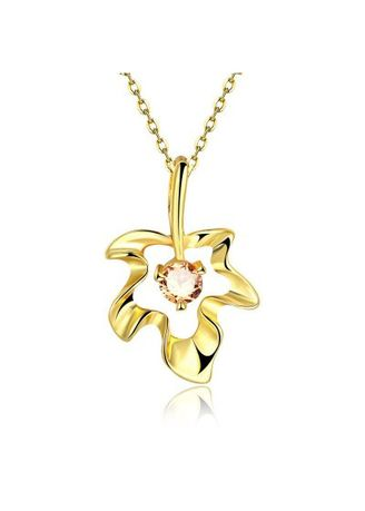 Gold color  . N132 - A Zircon Necklace Fashion Jewelry 24K Gold Plating Necklace -