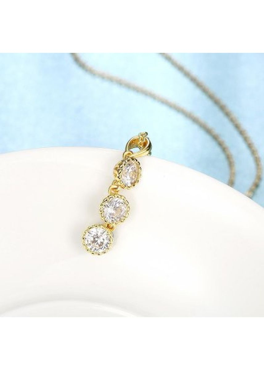 Gold color  . N121 - A Zircon Necklace Fashion Jewelry 24K Gold Plating Necklace -