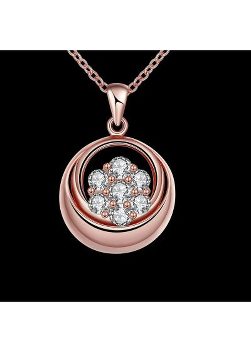 Pink color  . N122 - B Zircon Necklace Fashion Jewelry Pink Plating Necklace -