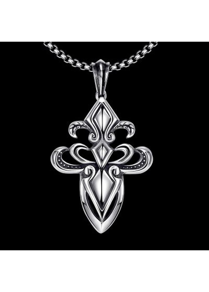 เงิน color  . N036 Titanium Fashion Chain 316L Stainless Steel Vintage Pendant Necklace -
