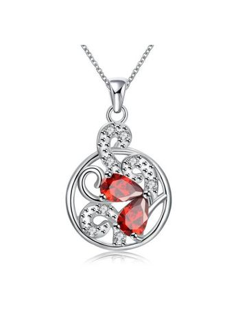 Silver color  . N120-B 925 Silver Plated Necklace Brand New Design Pendant Necklaces Jewelry for Women -