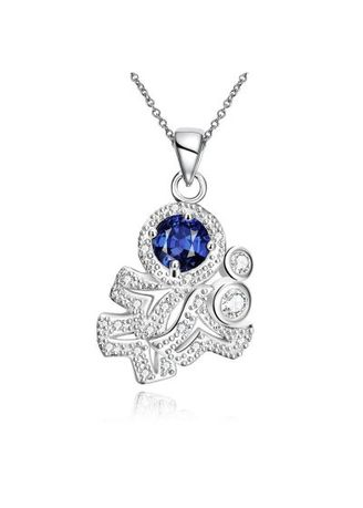 . N121-A 925 Silver Plated Necklace Brand New Design Pendant Necklaces Jewelry for Women -