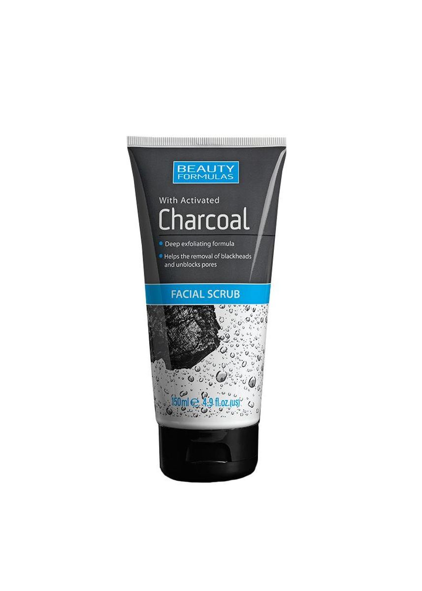 No Color color Body Scrub . BEAUTY FORMULA Charcoal Facial Scrub 150ml -