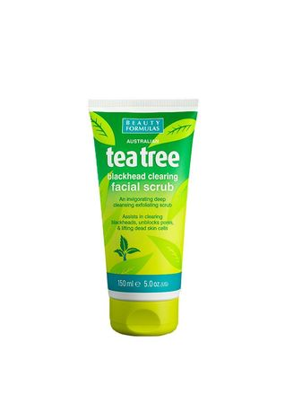 No Color color Body Scrub . BEAUTY FORMULA Tea Tree Scrub 150ml -