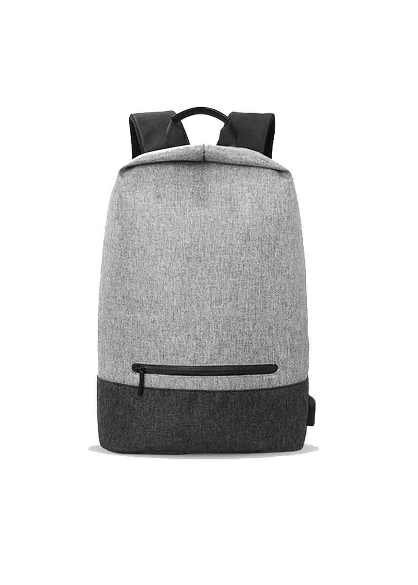 Grey color Backpacks . Classic Minimalist Backpack with USB port 15.6 inch -