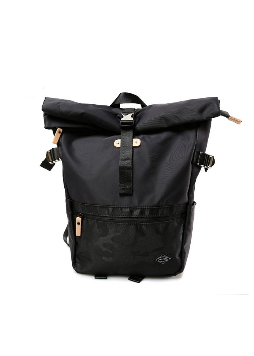 Black color Backpacks . Camo Minimalist Backpack -