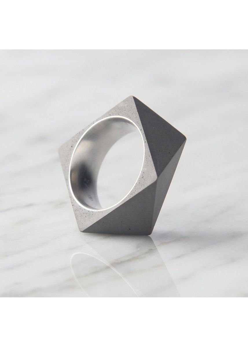 Grey color Rings . 22 Design Polygon Ring - Size 7 -