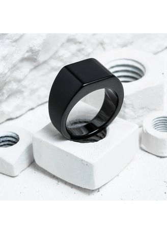 Black color Rings . Vitaly Lourd Heavy Square Ring - Size 11 -