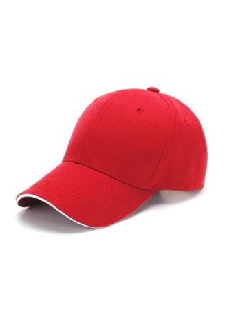 Red color Hats . Plain Solid Colour Baseball Cap -