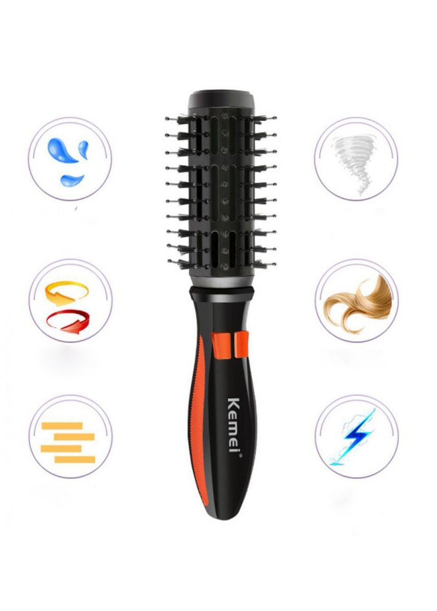 No Color color Shaving . KEMEI KM-2900 Electric Curling Rotatable Massage Comb -