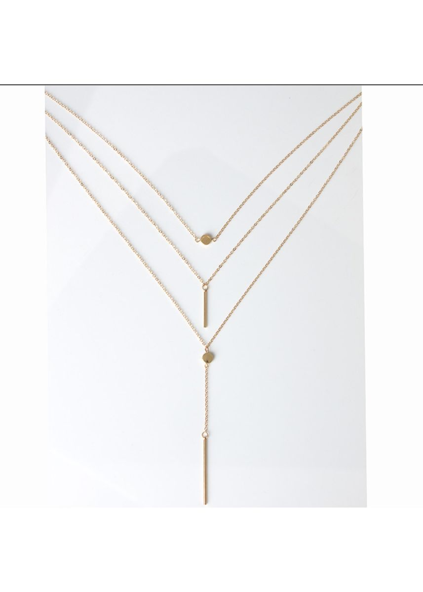 Gold color  . Multiayers Necklace -