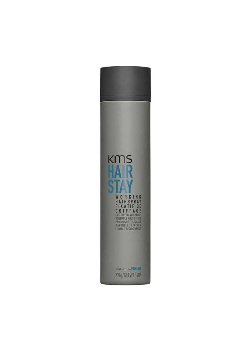 No Color color Styling . KMS Hair Stay Working HairSpray 239g -