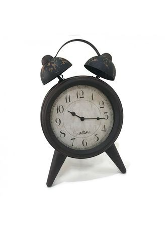 Multi color Home Decor . Vintage Retro Europian Antique Alarm Clock Shape- Big Size-10 inches -