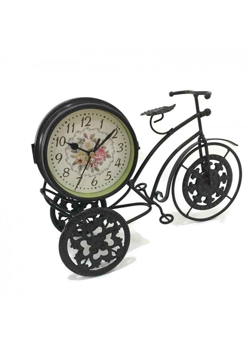 Multi color Home Decor . Vintage Retro Metal Bicycle Two Sided Table Clock Decoration -