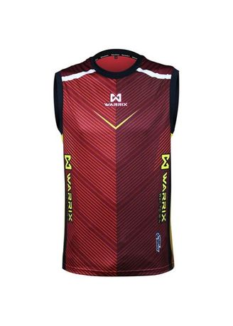 Red color Sports Wear . Warrix Jersey WA-1602 Victorino -