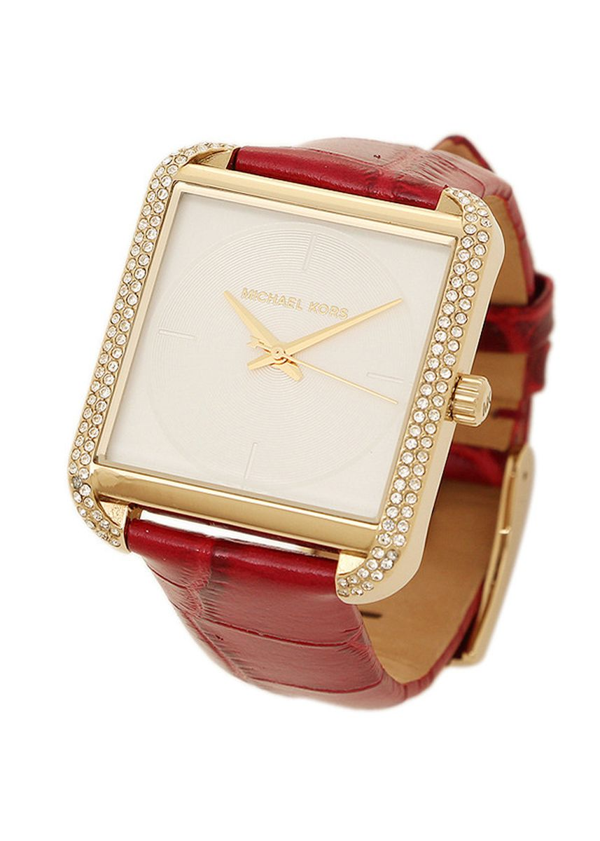 Gold color Analog . Michael Kors Women's Lake Red Watch MK2623 -