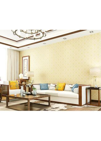 No Color color Home Decor . Wallpaper 4D Non Woven Modern Chinese Lattice 53cmx10m - Beige 79303 -