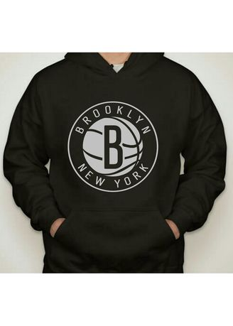 Hitam color Sweater . SWEATER HOODIE BROOKLYN NEW YORK - MEY MEY CLOTHING -