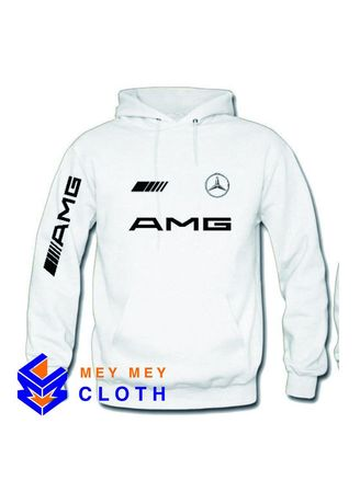 Putih color Sweater . Sweater Hoodie AMG MERCEDES BENZ High Quality -