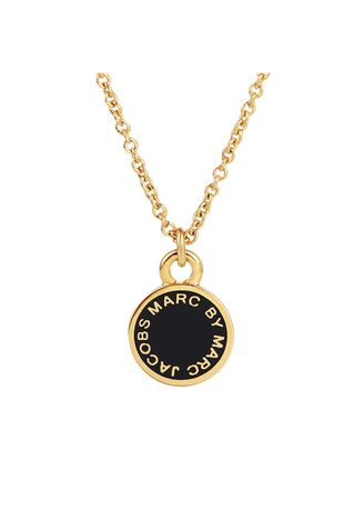 Gold color Other . Marc By Marc Jacobs Enamel Logo Gold Pendant Necklace -