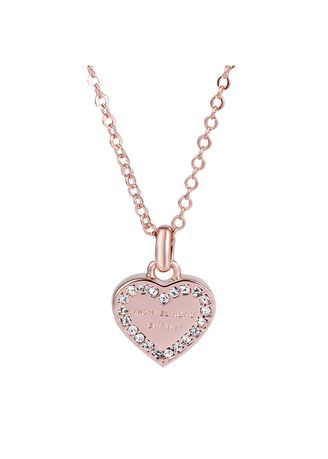 Tan color  . Christmas gifting! Michael Kors Crystal Heart Necklace -