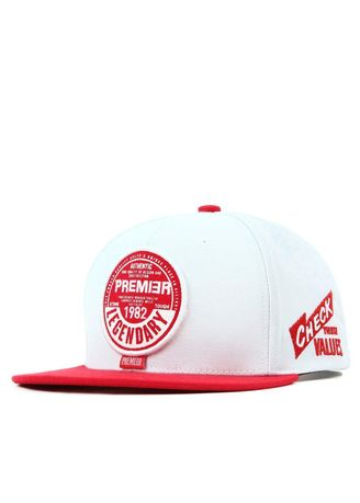 1b1cc7f4a99 PREMIER Flipper Unisex Snapback Cap หมวก - AW ROUND White.Red ...