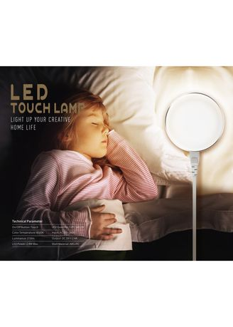 . Original LDNIO A2208 LED Power Touch Lamp 2 USB Smart Charger -