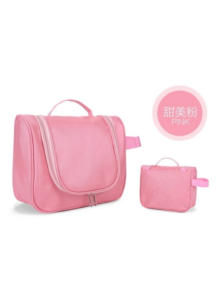 Pink color Travel Wallets & Organizers . Travel Toiletry Hanging Makeup Cosmetic Bag -