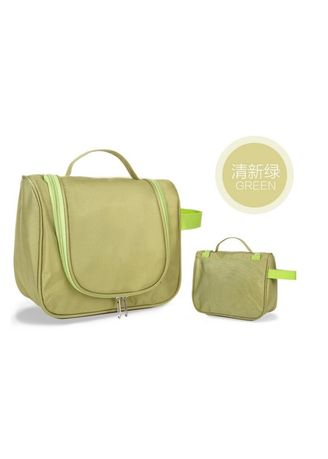 Green color Travel Wallets & Organizers . Travel Toiletry Hanging Makeup Cosmetic Bag -