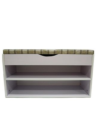 Light Grey color Shoe Storage . Bench With Shoe Storage -