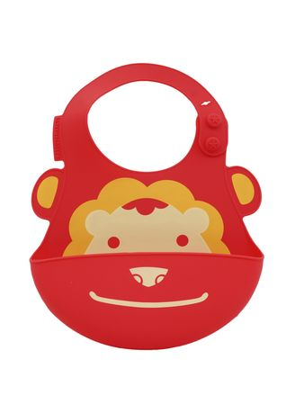 Red color Accessories . Marcus & Marcus Baby Bib - Lion -