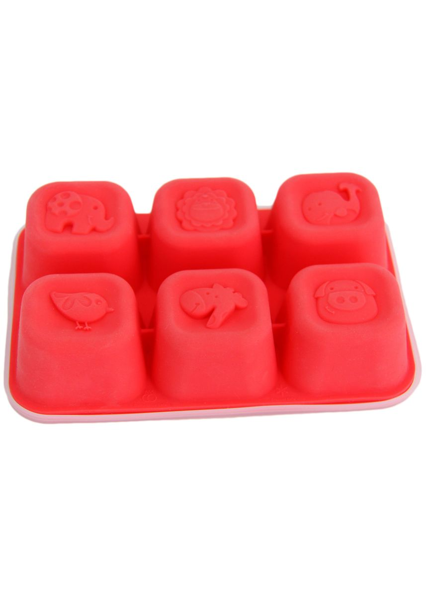 Red color Kitchen . Marcus & Marcus Food Cube Tray -
