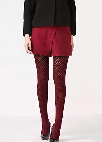 Red color Socks . Thin Jacquard Stockings -