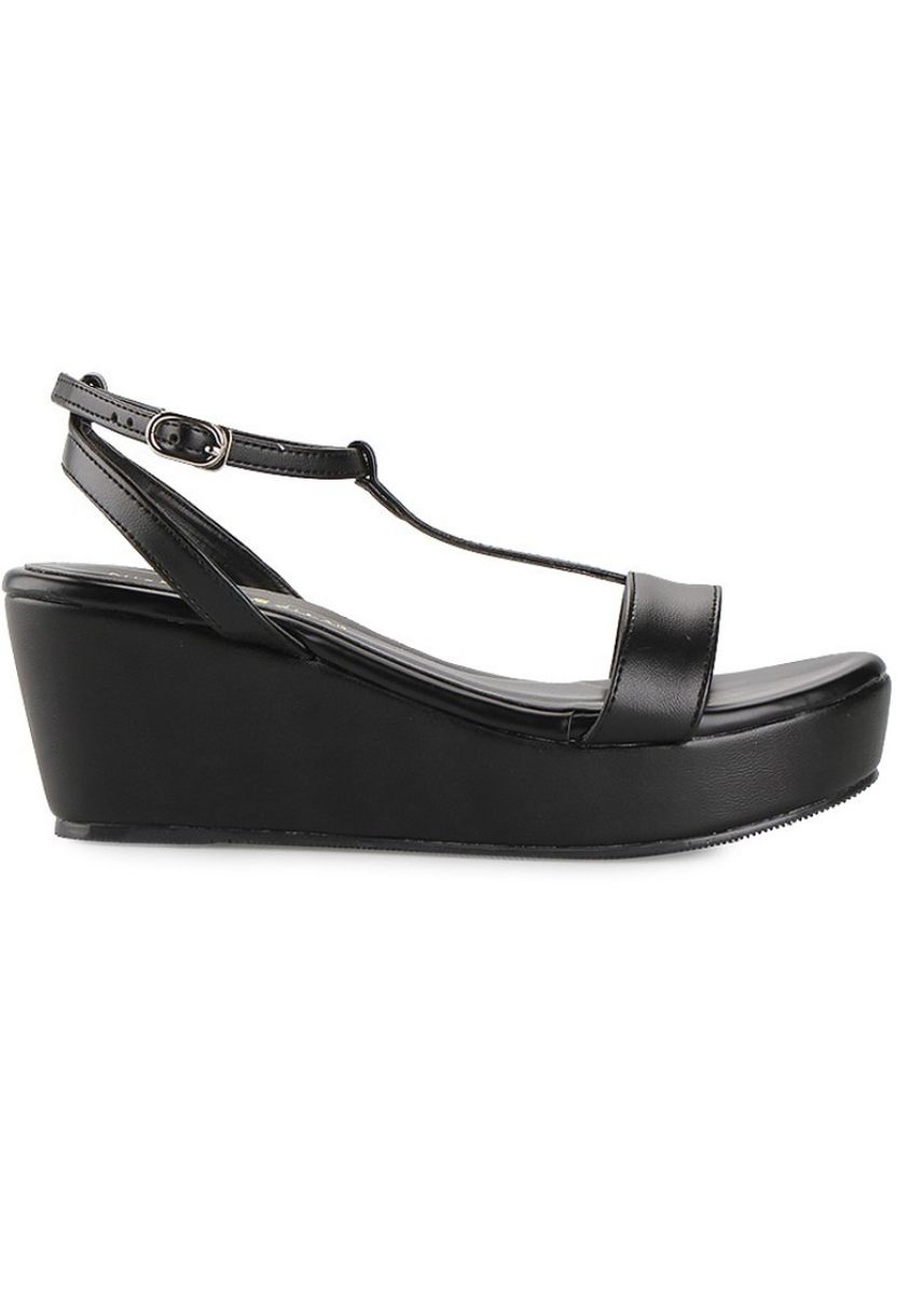 Black color Heels . Nicholas Edison Wedge Galya Black -