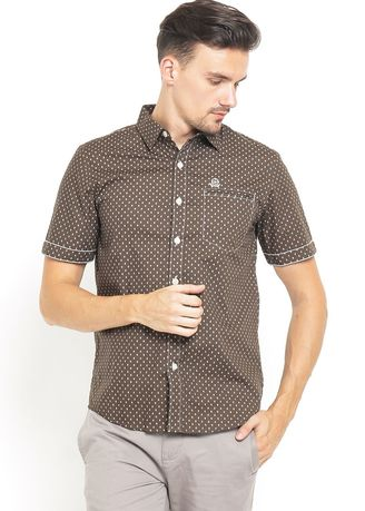 Casual Shirts . SLIM FIT - KEMEJA CASUAL ACTIVE - PRINT PATTERN - ASH.670.S880.652.C S/S -