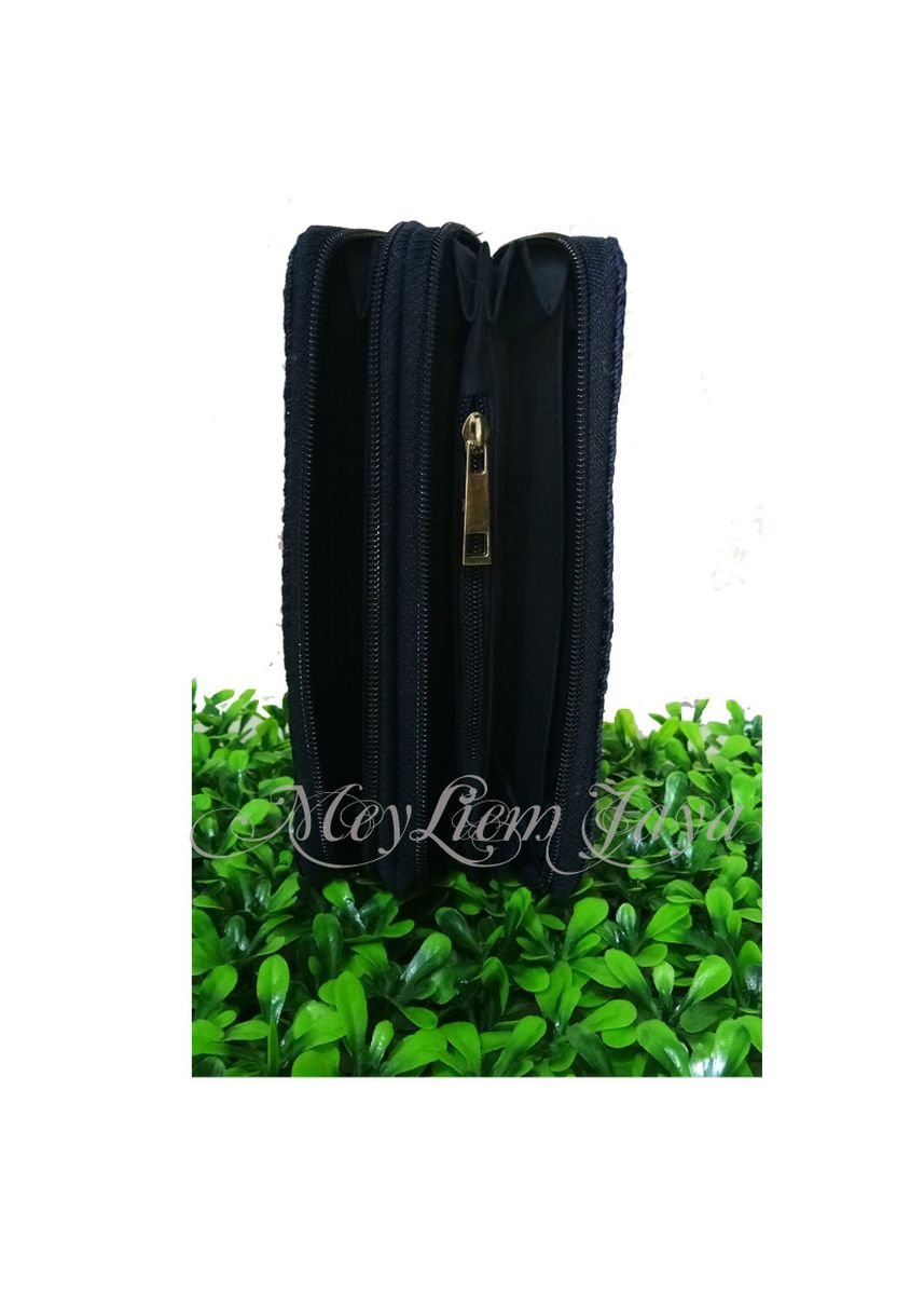 Navy color Wallets and Clutches . Meyliem Jaya Dompet Rajut Double Zipper - Biru Dongker -