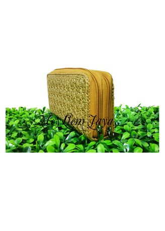 Krem color Dompet & Clutch . Meyliem Jaya Dompet Rajut Double Zipper - Krem -