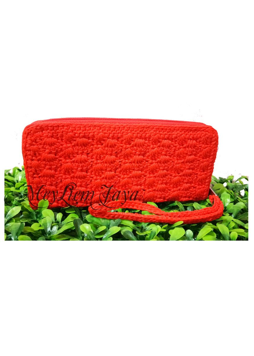 Red color Wallets and Clutches . Meyliem Jaya Dompet Rajut Rit Kecil - Merah -