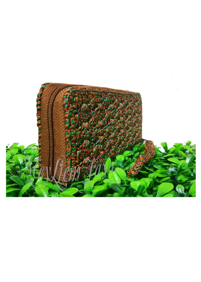Multi color Wallets and Clutches . Meyliem Jaya Dompet Rajut Rit Kecil - Statis Marun -